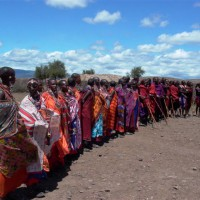 Typical Masai Welcome