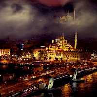 Istanbul Mosque Night
